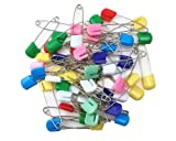 Coolrunner 50 PCS Baby Safety Pins, Assorted Color