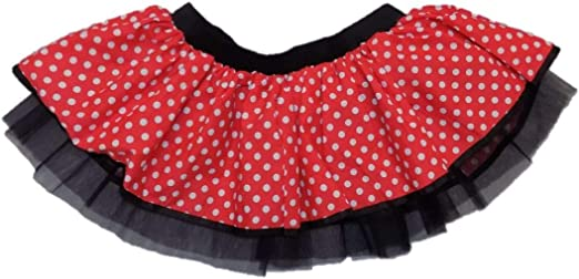 Tutú de Minnie Mouse, color rojo, blanco e negro REd Black Talla ...
