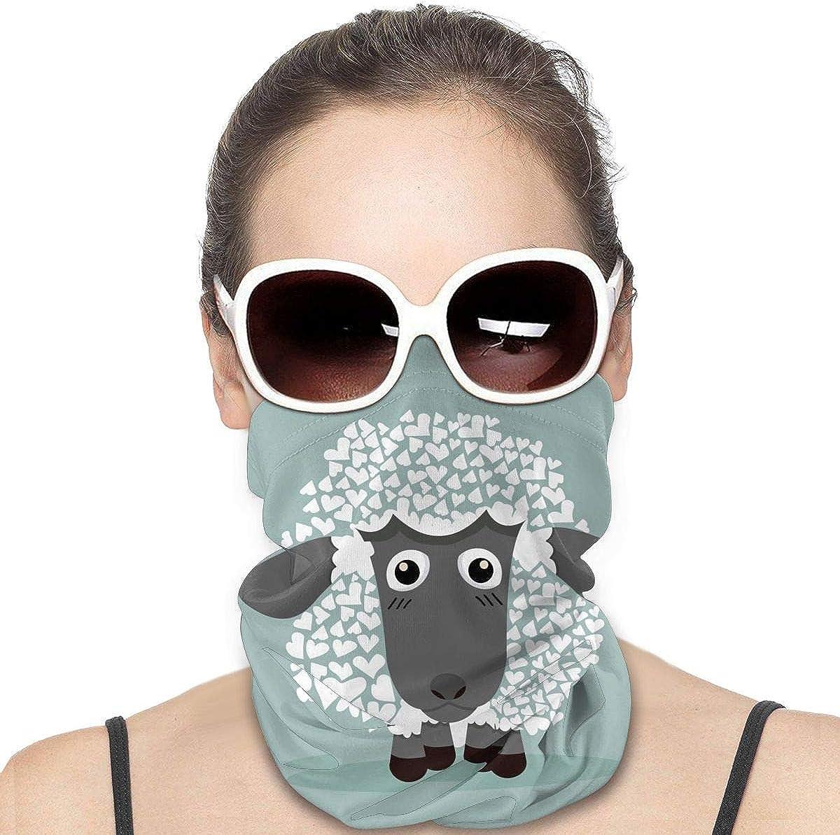 Dujiea Cute Alpaca Sheep Woman Seamless Bandana Dust Sun UV Protection Neck Gaiter Multifunctional Balaclava Face Mask for Motorcycling Hiking Fishing