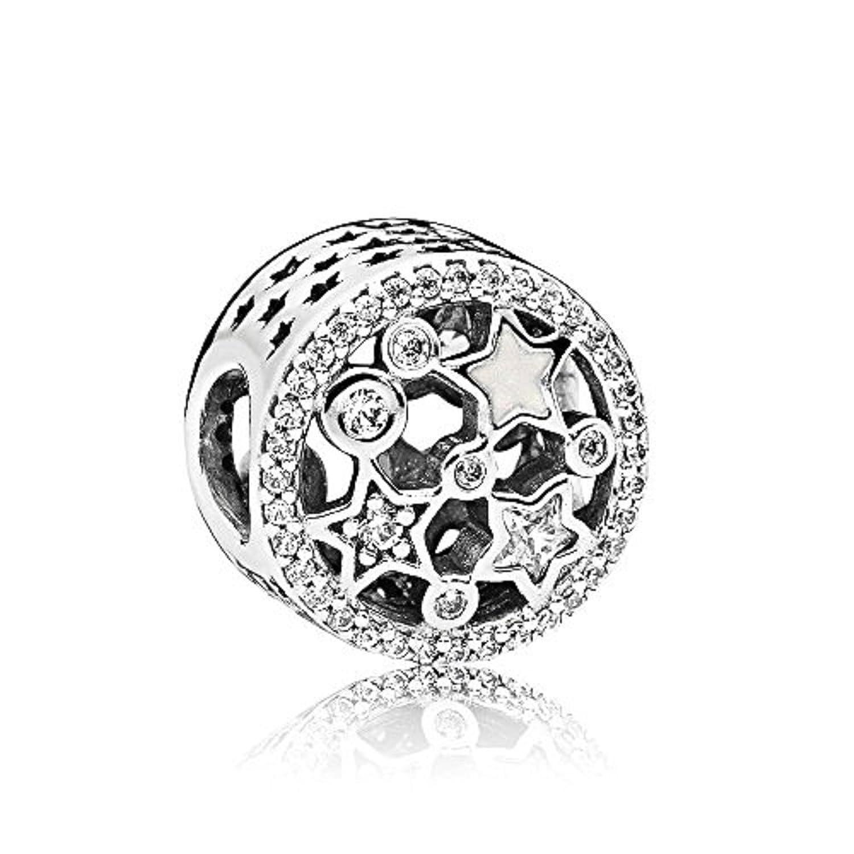 Pandora Mujer Sterlingsilber plata Rund circonita