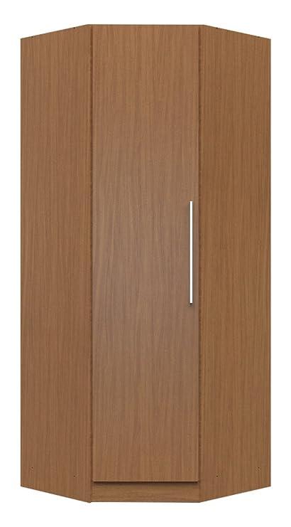 manhattan comfort chelsea corner closet collection free standing corner wardrobe closet with 2 hanging rods and - Corner Wardrobe Closet