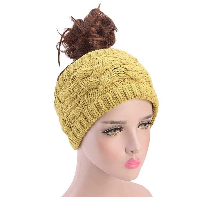 2ab7a0d0a0e2b4 Janly Frauen Stricken Stirnband handgemacht halten warme Haarband  Acht-charakteristisches Twist-Haarband für Frauen (Gelb): Amazon.de:  Bekleidung