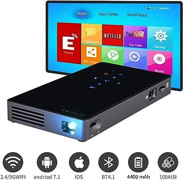 Mini proyector portátil Prechen, WiFi Pico Proyector de Video ...