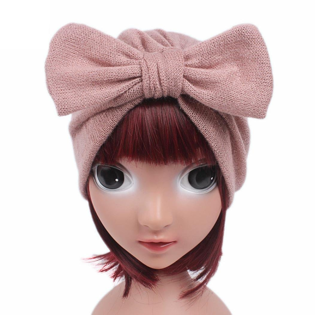 Baby Girls Boho Hat Beanie Scarf Turban Head Wrap,Morecome Childrens Bow Turban Hat