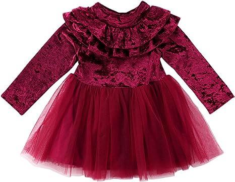 AmzBarley Robe /À Pois Tutu Robes Princesse Costume B/éb/é Fille Enfant Manches Courtes F/ête Anniversaire Halloween Cosplay D/éguisement Souris Bandeau