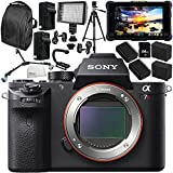 Sony Alpha a7R II Mirrorless Digital Camera with Atomos Shogun Inferno 7 4K HDMI/Quad 3G-SDI/12G-SDI Recording Monitor 15PC Accessory Bundle – Includes Deluxe Backpack + MORE