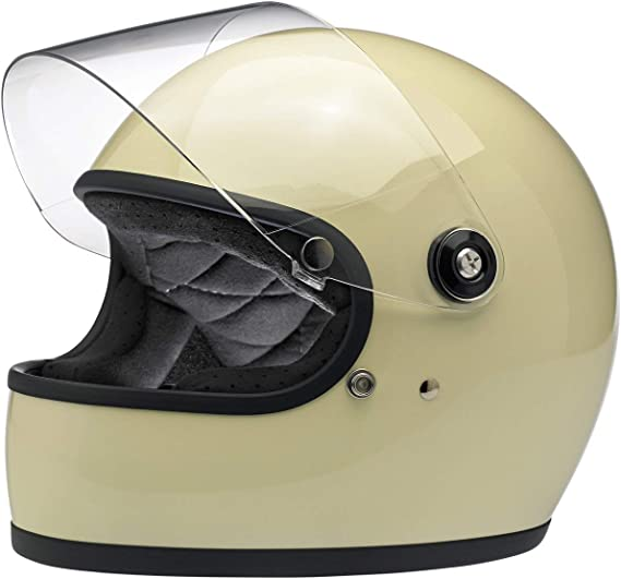 Custom Chrome Biltwell Gringo S Gloss Vintage White Motorrad Helm Sport Freizeit