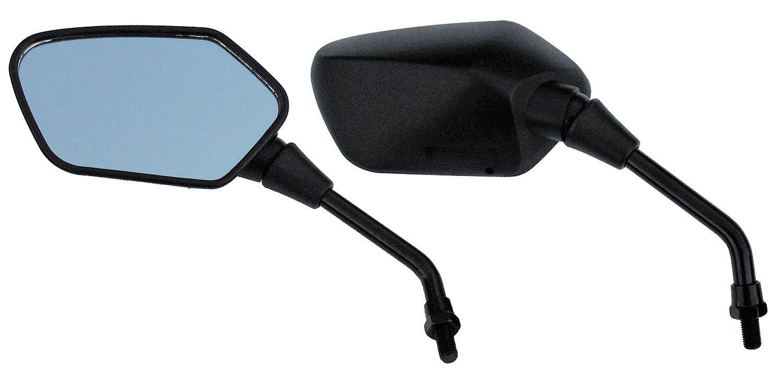Hoosier Garage - Pair of OEM Quality Black Angular Head Motorcycle Mirrors - Honda, Kawasaki, Suzuki, Victory