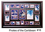 (Pirates of the Caribbean) Ultimate Photo Collage Featuring 16 Movie Photo's W/facsimile Autographs Professionally Matted an Framed to a 24x36 Finished Size