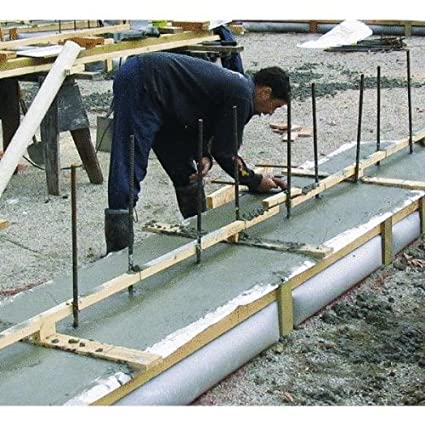 Fabric strip footing forms