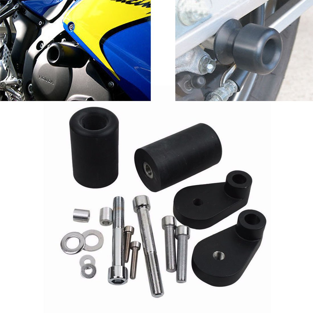 TJMOTO Black Frame Slider Engine Bodywork Fairing Crash Fall Protector For Motorcycles 1991 1990 1993 1994 1995 1996 1997 1998 Honda CBR 600 F2 F3