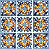 "Color y Tradicion 9 Mexican Tiles 4"" x 4"" Hand Painted Talavera C150"