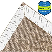 X-Protector Rug Gripper Long - 10 inch - Best Rug Grippers 8 PCS - Carpet Tape Pad - Anti Curling Carpet Pad. Make Your Big Rug Non Slip & No CURL Corners. Carpet Gripper - Carpet Pads with Rug Tape