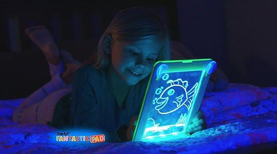 BEST DIRECT Fantastic Pad Visto en TV Pizarra Mágica con Luces Led y Cartones de dibujo Para Dibujar y Pintar Regalo para Niños No Ensucia Estimula la ...