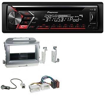Pioneer S400 0bt AUX Bluetooth MP3 USB CD Radio de coche para Kia Sportage 3 (a partir de 10 SL) Plata: Amazon.es: Electrónica