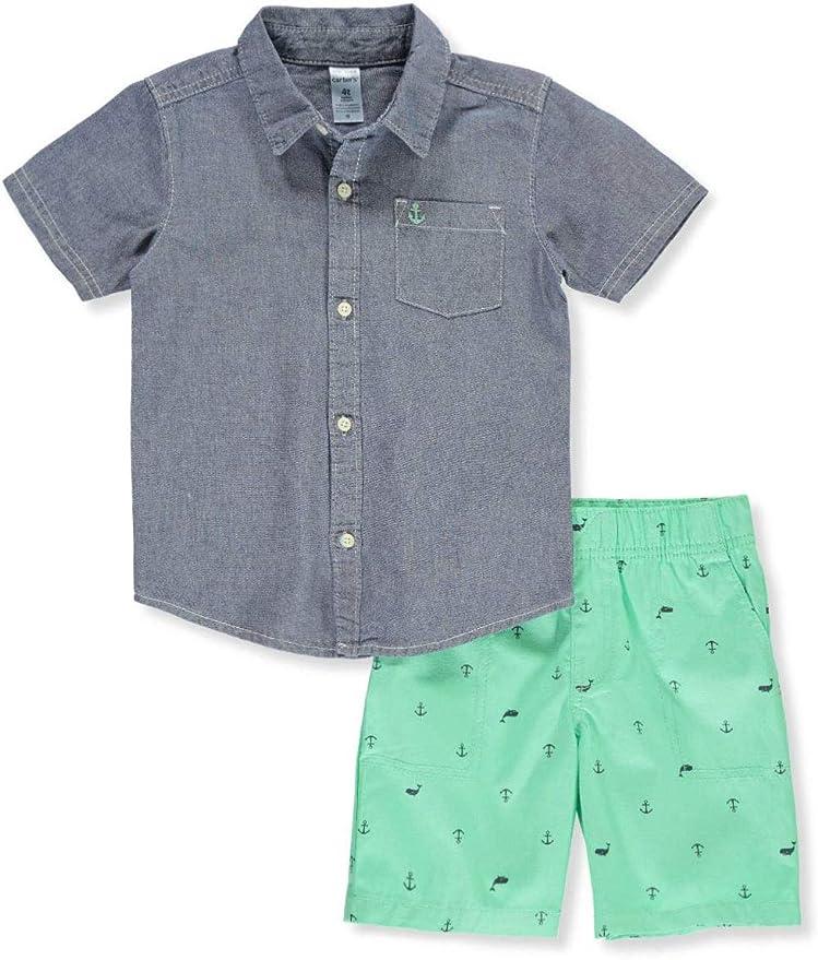 4T Carters Little Boys 2 Piece Short Set - Navy Toddler
