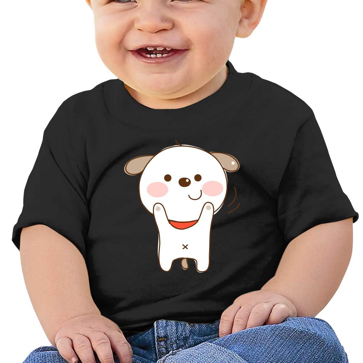 SakanpoCartoon Dog Toddler//Infant Short Sleeve Cotton T Shirts Black