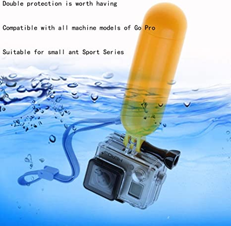 Yellow Waterproof Floating Hand Grip Compatible with GoPro Camera ...