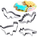 4er-Set Kitchen Craft Keks-Ausstecher, Dinosaurier-Motiv,