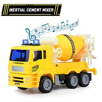 TONZE Vehiculos Juguete de Construcción Coches de Juguetes Playa Camión Mezclador de Concreto para Niños y Niñas 3 4 5 Años: Amazon.es: Juguetes y juegos