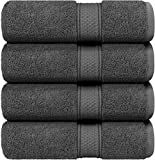 Utopia Towels - Bath Towels Set, Grey - Luxurious 700 GSM 100% Ring Spun Cotton - Quick Dry, Highly Absorbent, Soft Feel Towels, Perfect for Daily Use (4-Pack)