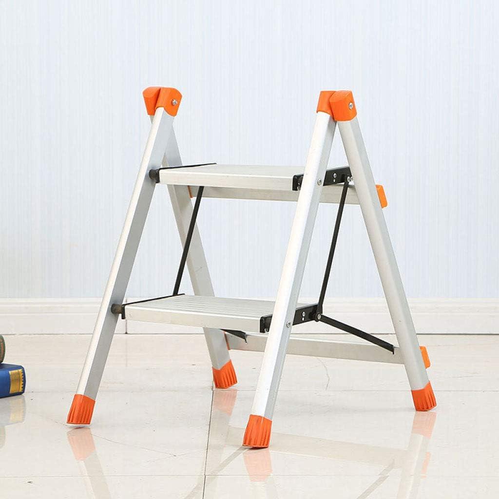 Escalera De Tijera Escalera Plegable Taburete Aleación De Aluminio Escalera De Dos Escalones Taburete: Amazon.es: Hogar