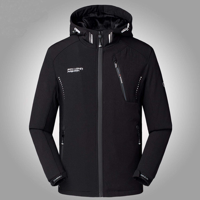 black-shop Brand Winter Jacket Men Thicken Warm Soft Shell ...