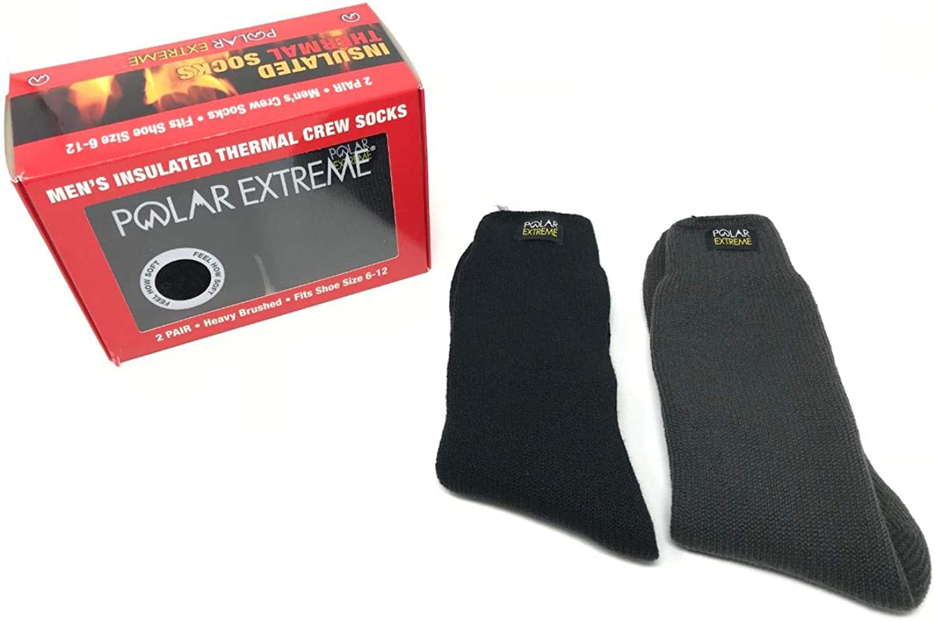 Mens Polar Extreme Insulated Thermal Winter Moisture Wicking Socks 2 Pack s GIFT BOX WITH NAME LABELS