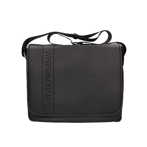 1597a57c49af Emporio Armani Logo Flap Messenger Bag