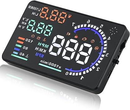 Sks Distribution Universal Auto Hud Head Up Display A8 14 Cm Gps Tacho Smart Kfz Digital Tacho Obd2 Interface Auto
