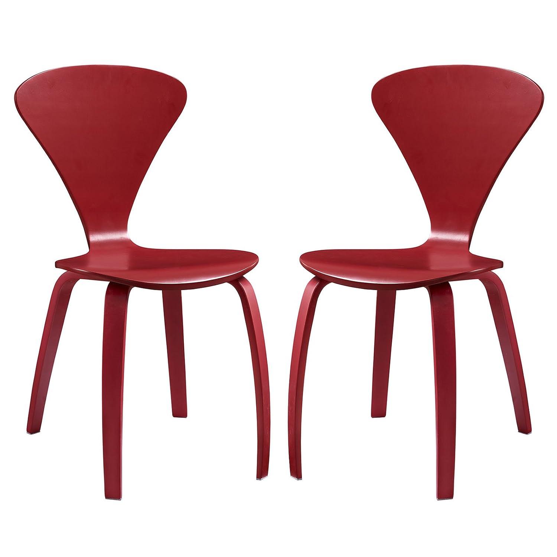 Modway Vortex Mid-Century Modern Dining Chairs in Dark Walnut - Set of 2 Modway Inc. EEI-899
