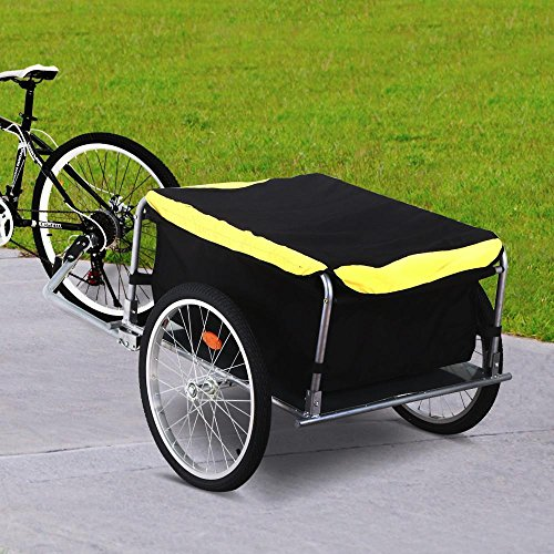 Yaheetech Garden Bike Bicycle Cargo Luggage Trailer-Yellow/Black by Yaheetech (Image #2)