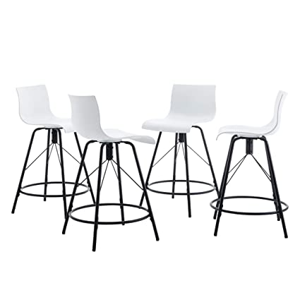 Amazoncom Changjie Furniture 26 Inch Modern Metal Barstools For