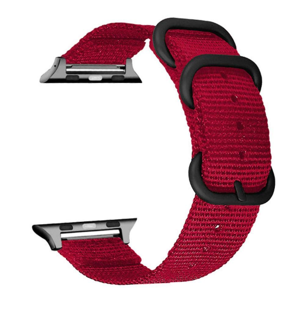 Wrist Watch Strap New for Apple Watch Band 38mm 38 for Apple Watch Band 38mm Series 2 L for Apple Watch Band 42mm 40 40mm for Apple Watch Band for for Apple Watch Band for Apple (Red, 38mm40mm)