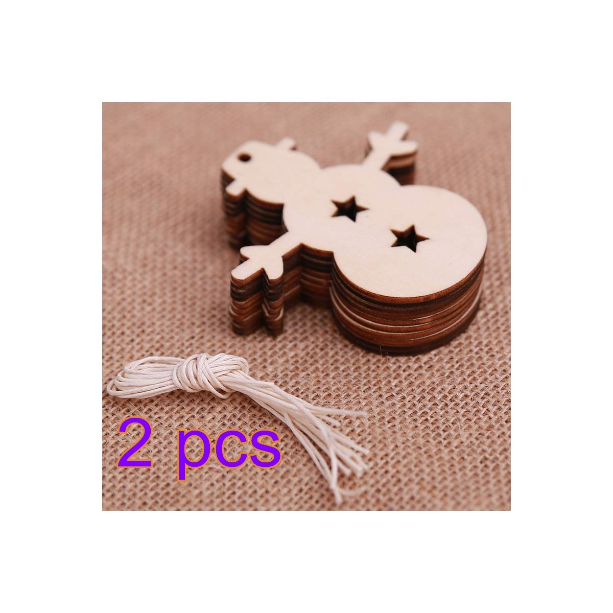 Takefuns Snowman Christmas Tree Blank Wood Discs Bulk Holes Crafts Centerpieces 30 Pieces Unfinished Wooden Christmas Cutouts Ornaments to Paint