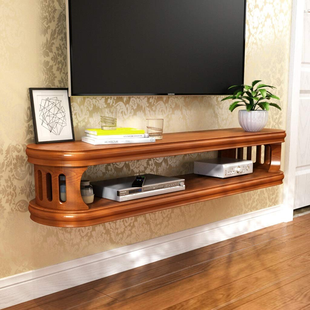 JIANPING TV Stand Wall Shelf Shelf Cabinet Media Entertainment Console Game Shelf Unit Wall Cabinet Home Furniture Floating Floating Shelves (Color : Brown, Size : 102cn) by JIANPING