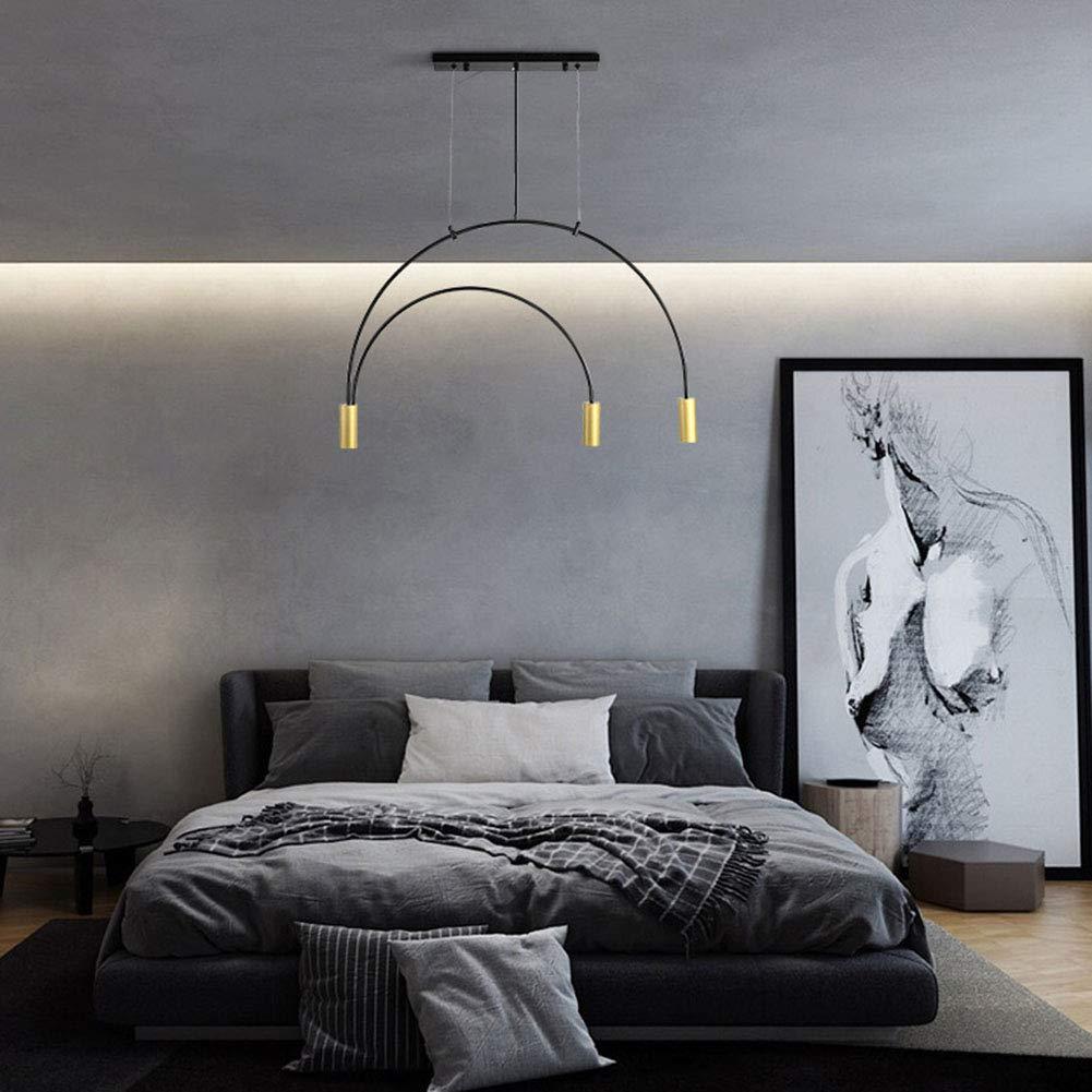 Sxfyhxy Moderne Pendelleuchte Led Einfache Wohnzimmer Gu10 Kronleuchter Dekoration Schlafzimmer Dachboden Beleuchtung Messing Warmlight 85x52x30cm