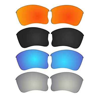077c9bb3d2 Image Unavailable. Image not available for. Color  4 Pair ACOMPATIBLE Replacement  Polarized Lenses for Oakley Flak Jacket XLJ ...
