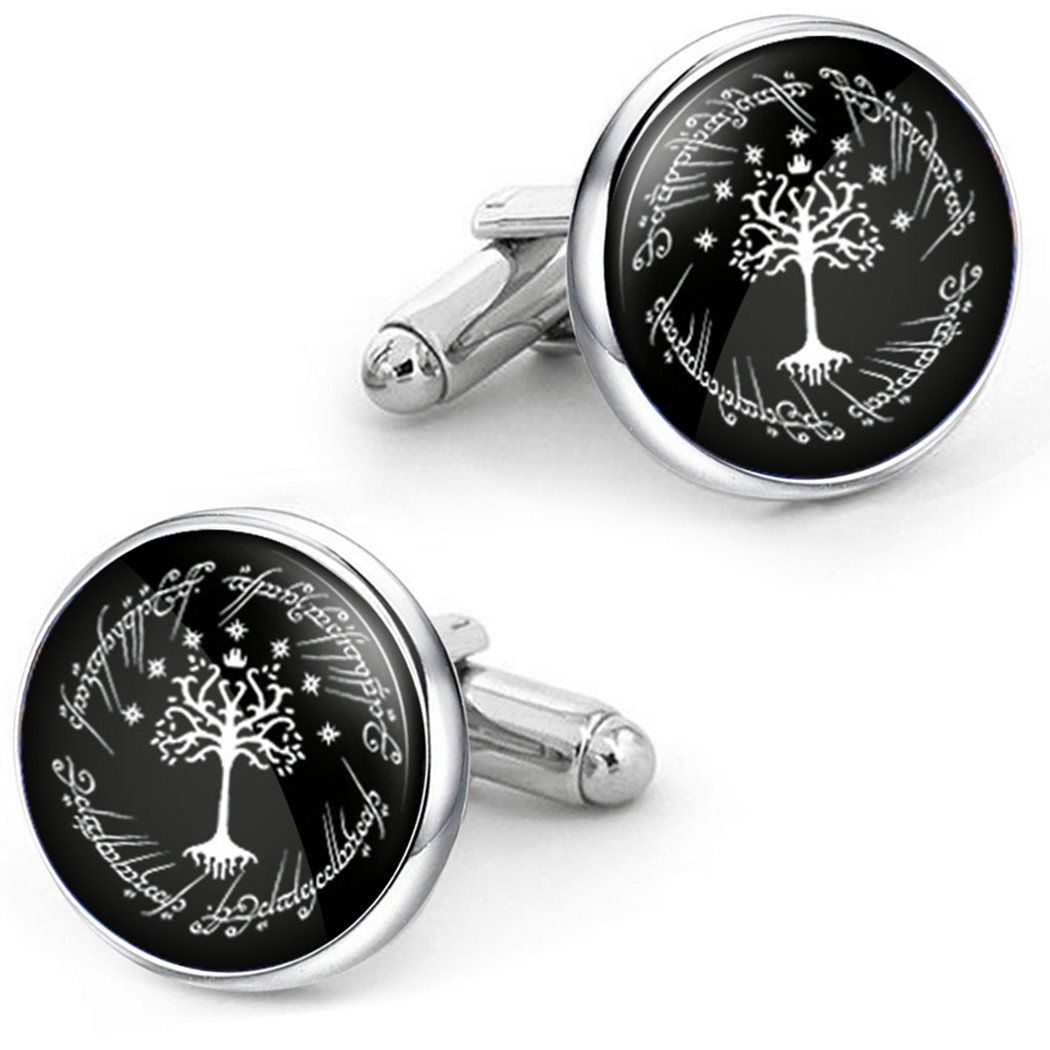 Kooer White Tree Cufflinks For Tree of Life Custom Personalized Cuff Links Wedding Cufflinks