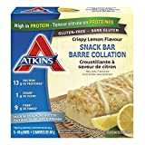Atkins Snack Bars, Crispy Lemon, 13g Protein, 1g Sugar, 9g Fibre, Gluten Free, 5 Count