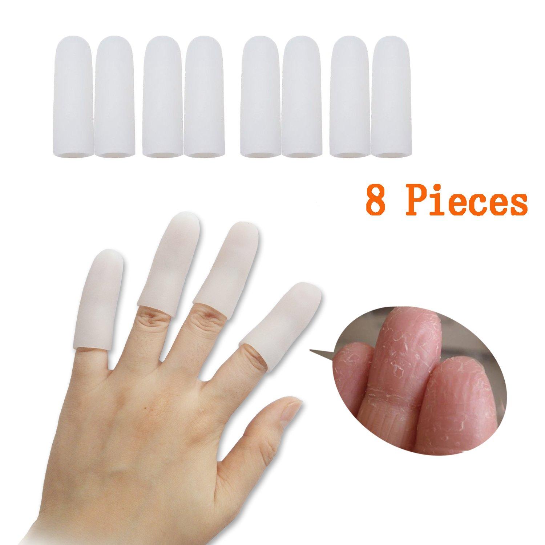Amazon.com: Jrery Silicone Gel Finger Protectors 8 Pieces, Finger ...