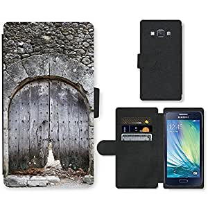 PU Cuir Flip Etui Portefeuille Coque Case Cover véritable Leather Housse Couvrir Couverture Fermeture Magnetique Silicone Support Carte Slots Protection Shell // F00000359 Fontcoberta // Samsung Galaxy A3 SM-A300 (not fit S3)