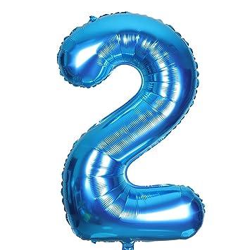 Smarcy Globos Número 2 Decoración de Cumpleaños 2 Años ...