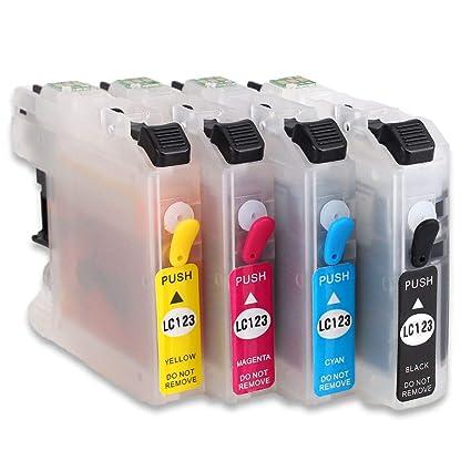 HEMEI Cartucho de tinta recargable LC123,compatible para ...