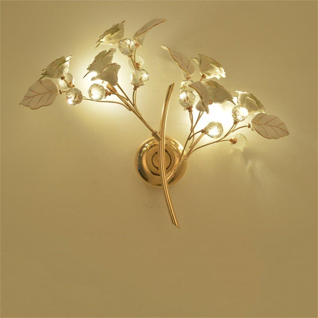 outlet in vendita ALUK- Lampada da parete in ceramica in stile europeo europeo europeo lampada da parete creativa salotto ristorante di personalità arte lampada da parete aisola in scala a cristallo (colore   Bianca-Luce calda)  Sconto del 70%