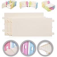Baby Vivo Box per Bambini Sicurezza Barriera Pieghevole Estensibile Cancelletto Recinto con Porta Plastica Parte principale - Elementi supplementari - Appoggio Letto