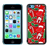 LASTONE PHONE CASE / Slim Protector Hard Shell Cover Case for Apple Iphone 5C / Cool Tree Candy Cane Red Gift