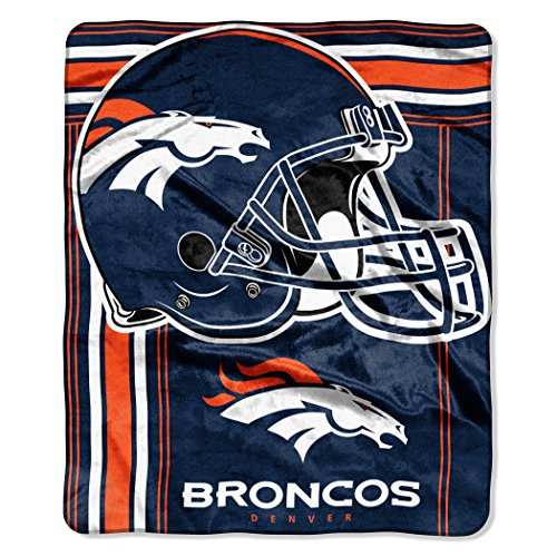 The Northwest Company NFL Denver Broncos Touchback Plush Raschel Throw, 50