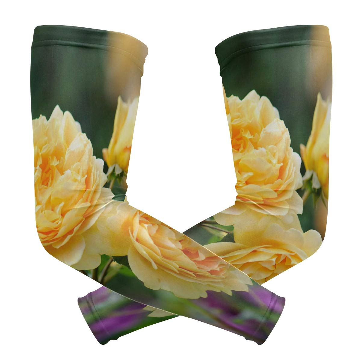 Arm Sleeves David Austin Roses Mens Sun UV Protection Sleeves Arm Warmers Cool Long Set Covers