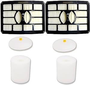 Amyehouse 2 Packs Replacement Hepa & Foam Filters for Shark Rotator Pro Lift-Away NV500, NV501, NV502, NV503, NV505, NV510, NV520, NV550, NV552, UV560, Compare to Part # Xff500 Xhf500